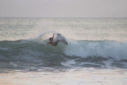 Layback  Carving Snap Costa Rica #1 of 2. Photo: Mike Vos